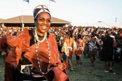 Mantfombi Dlamini Zulu durante uma festividade do seu povo perto de Durban, em 2013.