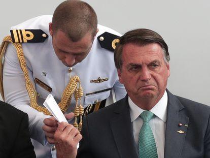 O presidente Jair Bolsonaro durante cerimônia de entrega da Medalha do Mérito Desportivo Militar, no Rio de Janeiro, em 1º de setembro.