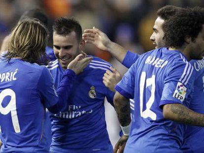 Jesé comemora o gol da vitória.