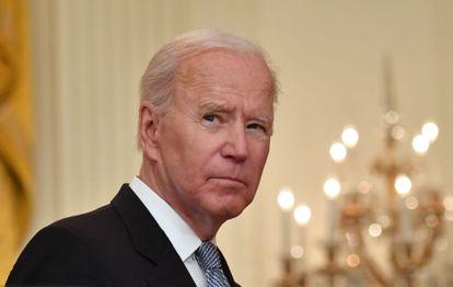 Joe Biden na Casa Branca nesta segunda-feira.