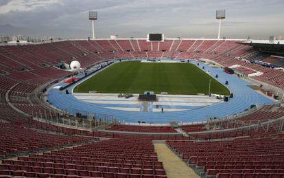 Vista geral do Estádio Nacional de Chile.
