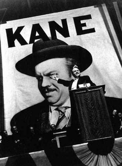 Orson Welles em um fotograma do filme que dirigiu e protagonizou, 'Cidadão Kane'.