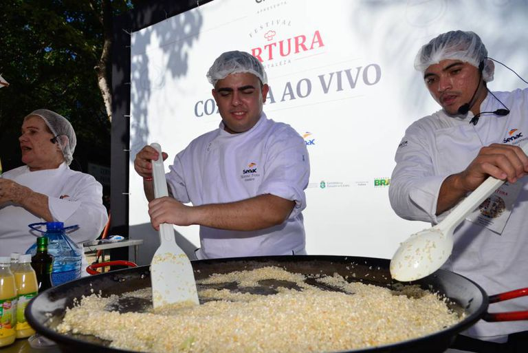 'Cozinha ao vivo' no Fartura Fortaleza.