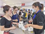 HAIKOU, CHINA - JULY 01: Customers shop for Huawei watches at Haikou Riyue Plaza Duty Free Shop on July 1, 2020 in Haikou, Hainan Province of China. (Photo by Luo Yunfei/China News Service via Getty Images)