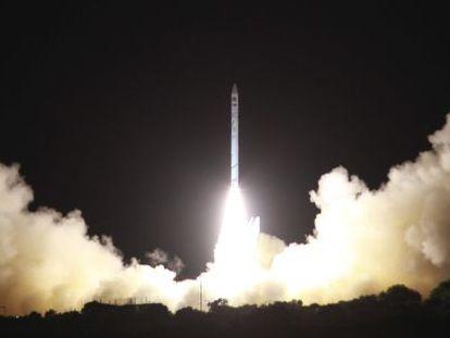 Imagem do lançamento divulgada pelo governo de Israel.