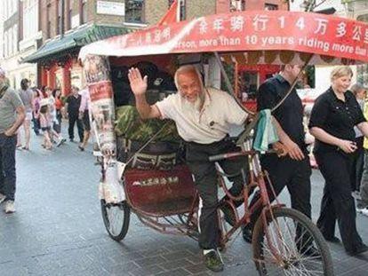Da China ao Brasil em um triciclo para assistir aos Jogos Olímpicos do Rio