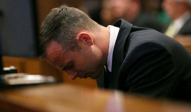 Oscar Pistorius no julgamento.
