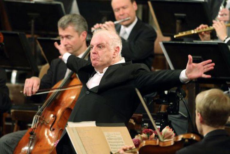 Daniel Barenboim durante seu concerto do ano em Viena.