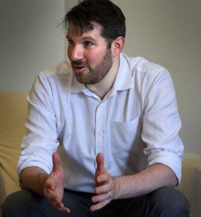 Eli Pariser na sede da Fundação Telefônica, em Madri.