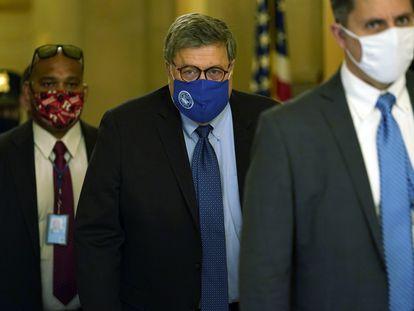William Barr, nesta segunda-feira, após se reunir com o líder dos republicanos no Senado.