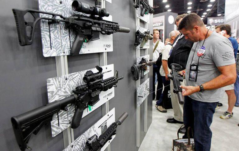 Reunião anual da Associação Nacional do Rifle, em maio deste ano.
