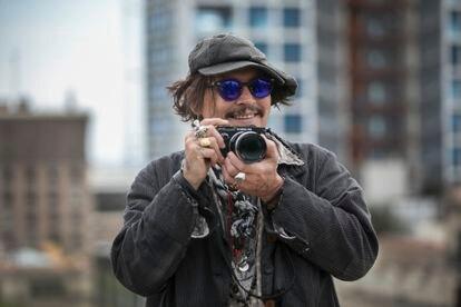 Johnny Depp em Barcelona, aonde apresentou seu último filme 'Minamata'.