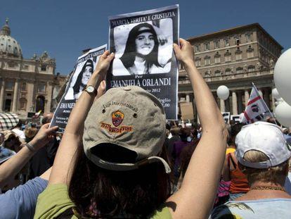 Manifestação no Vaticano para pedir justiça no caso Orlandi, em 2012.