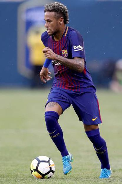 Neymar, durante o amistoso contra a Juventus.