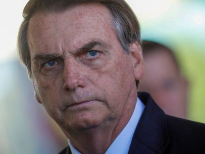 O presidente Jair Bolsonaro, na quinta-feira, no Palácio da Alvorada.