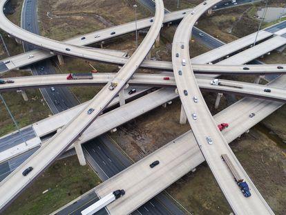 Viadutos em Rosedale (Maryland), em foto tirada por um drone nesta quarta-feira.