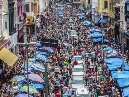 Região da rua 25 de Março, no centro de São Paulo
