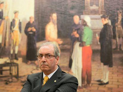 Eduardo Cunha no dia 14 de julho, na Câmara.