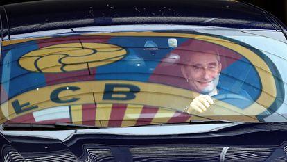 Valverde, na saída da Cidade Esportiva.