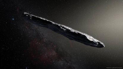 A nitidez desta recriação tem pouco a ver com como realmente se viu Oumuamua.
