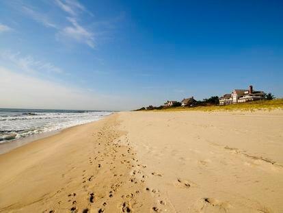 Uma das praias de East Hampton, no Estado de Nova York.