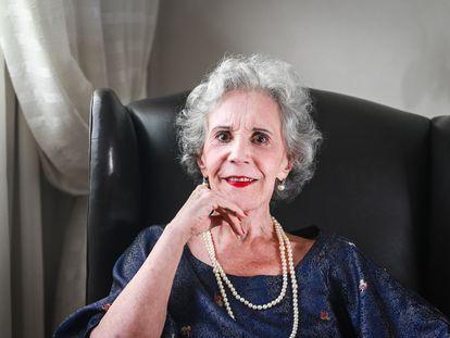 A atriz Maria Alice Vergueiro, em São Paulo, em março de 2018.