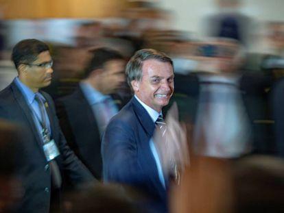 Bolsonaro na posse do ministro da Defesa, general Fernando Azevedo e Silva.