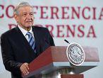 El presidente López Obrador durante su conferencia de prensa del viernes.