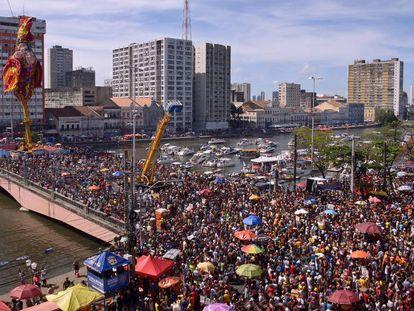 O bloco de carnaval Galo da Madrugada, o maior do mundo, em 2017.
