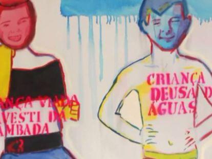 Obra da exposição Queermuseu
