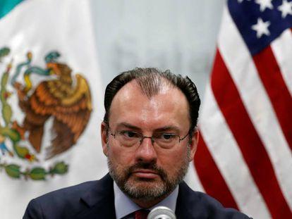 Luis Videgaray, no Consulado do México em Los Angeles na terça-feira
