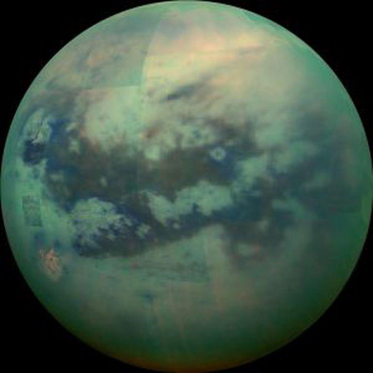 Imagem de Titã, captada pela 'Cassini'.
