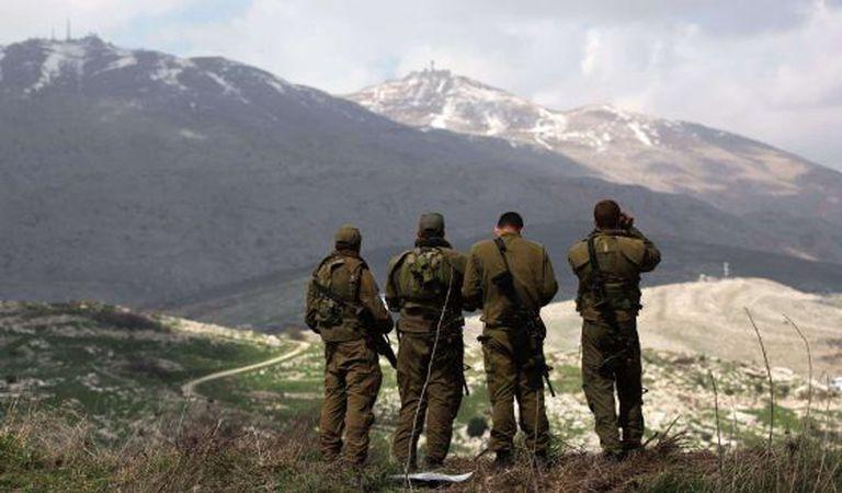 Soldados israelenses em Golán.
