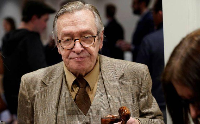 O ideólogo da direita Olavo de Carvalho, em Washington, na ocasião do encontro com o presidente brasileiro, em 16 de março.