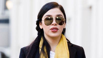 Emma Coronel, na Corte Distrital de Nova York, em 23 de janeiro de 2019.
