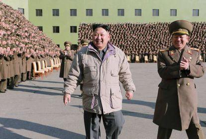 O ditador norte-coreano Kim Jong-un em uma foto sem data.