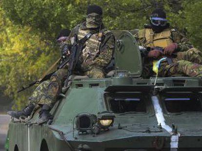 Exército ucraniano na cidade de Kramatorsk, leste do país.