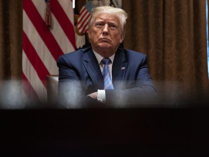 O presidente Donald Trump na Casa Blanca.