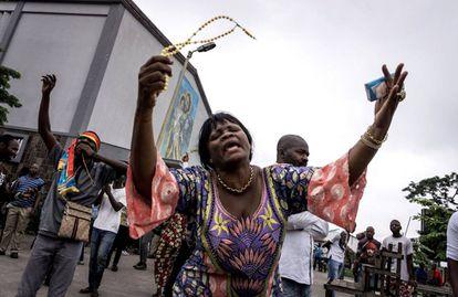 Protestos contra o presidente Kabila na República Democrática do Congo. Foto: JOHN WESSELS/AFP.