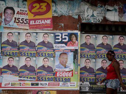 Campanha eleitoral em Sao Luis.