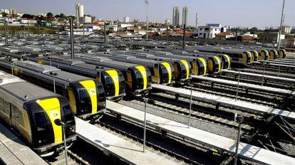 Pátio de manobras da Linha 4-Amarela
