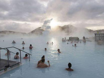 A Blue Lagoon da Islândia, um dos lugares mais visitados pelos turistas