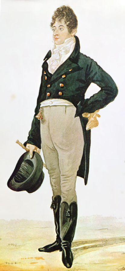 Caricatura de George Bryan Brummell (1805)