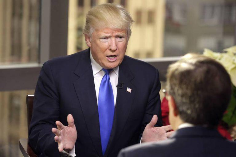 O presidente eleito, Donald Trump, em entrevista para a 'Fox'.