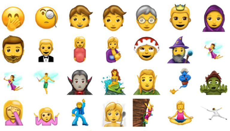 Alguns dos 'emojis' da Emojipedia.
