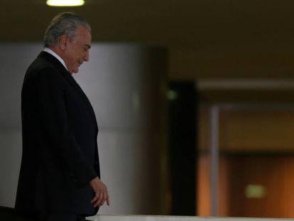 Presidente Michel Temer no Palácio do Planalto.