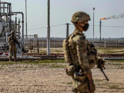 Soldado norte-americano no norte da Síria, em 13 de fevereiro.