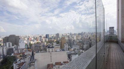 Vista do topo do edifício Altino Arantes, em São Paulo