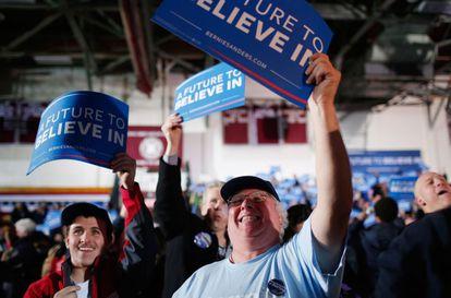Seguidores de Sanders em New Hampshire.