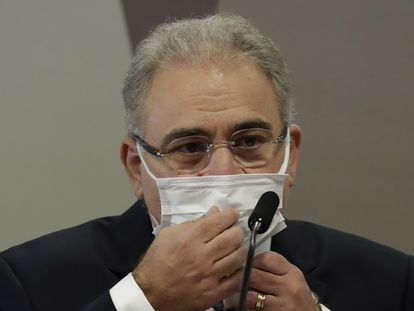 Marcelo Queiroga em 8 de junho, em depoimento à CPI da Pandemia no Senado.